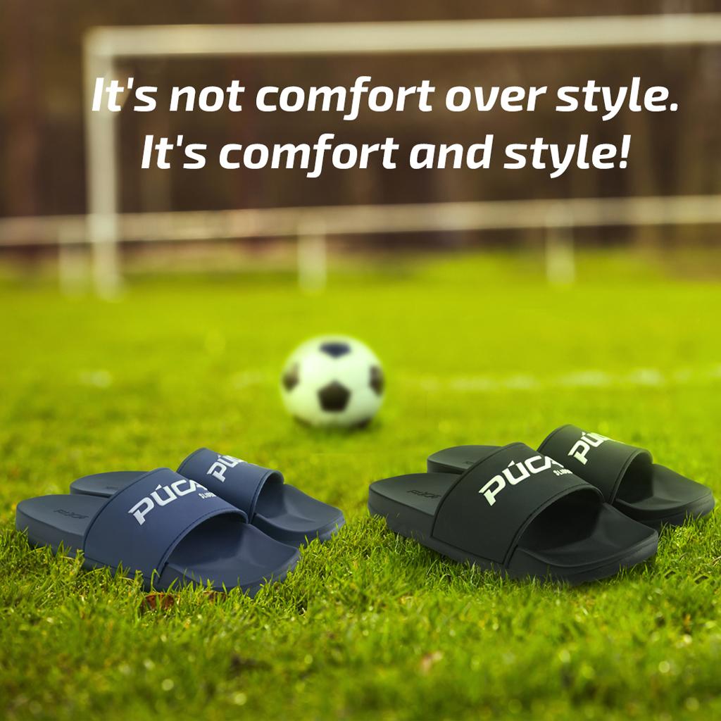 PUCA Men Slide Sandals Silicon EVA Cushion Footbed - Slider01